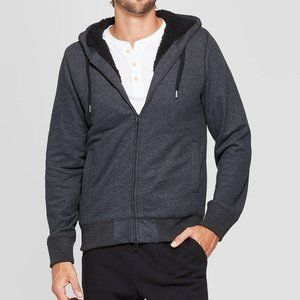 NWT Goodfellow Hooded Full Zip Sherpa Lined Jacket